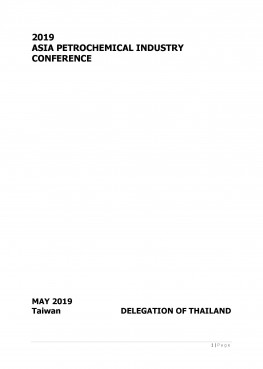 Thailand Country Report 2019 (APIC2019) Taiwan