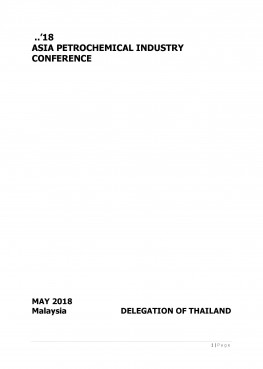 Thailand Country Report 2018 (APIC2018) Malaysia